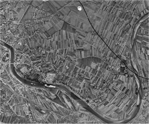 Evoluzione del territorio dal dopoguerra_Veduta aerea_anno 1954