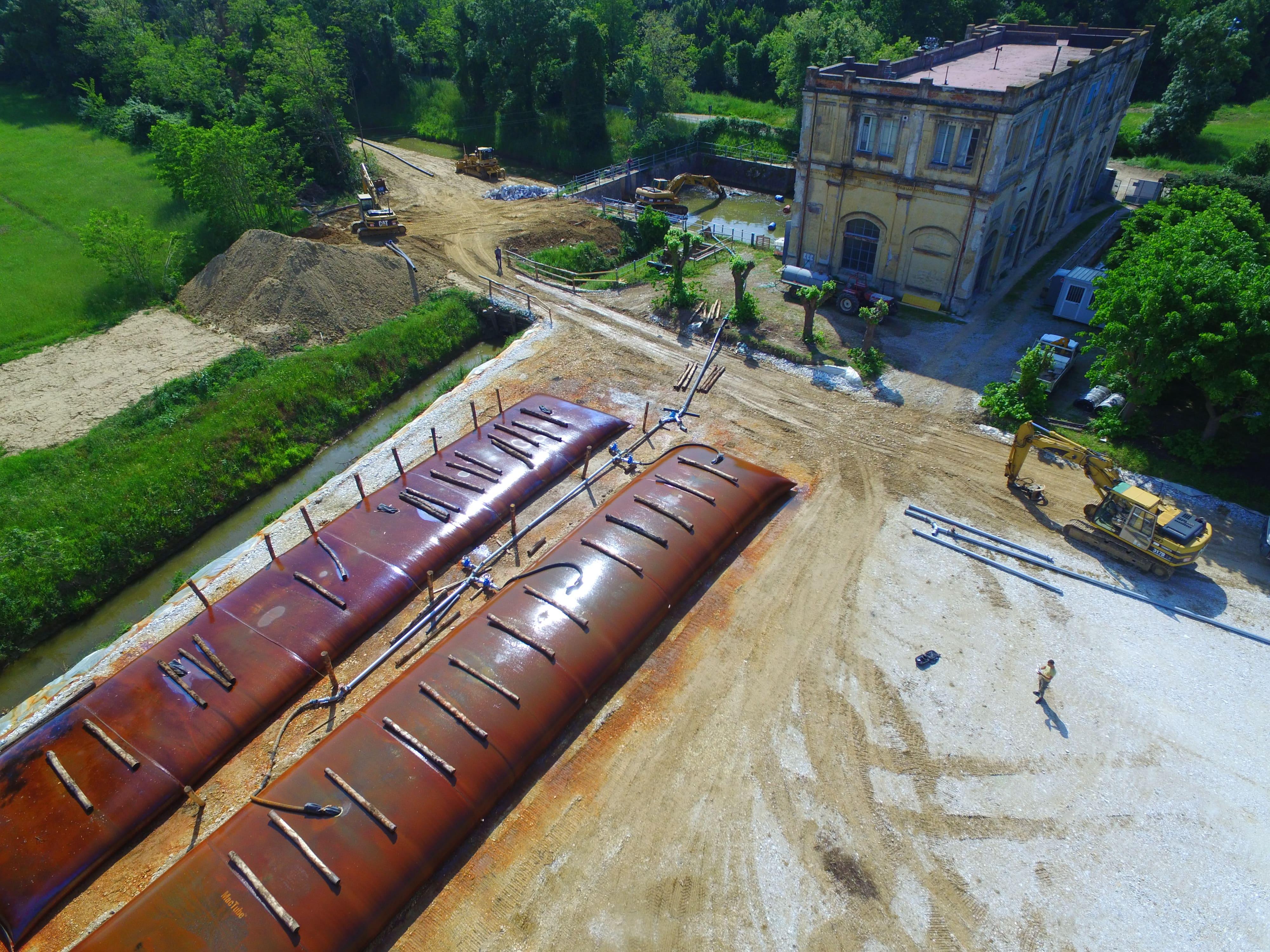 foto del volo Geobag impianto idrovoro Coltano – maggio 2016