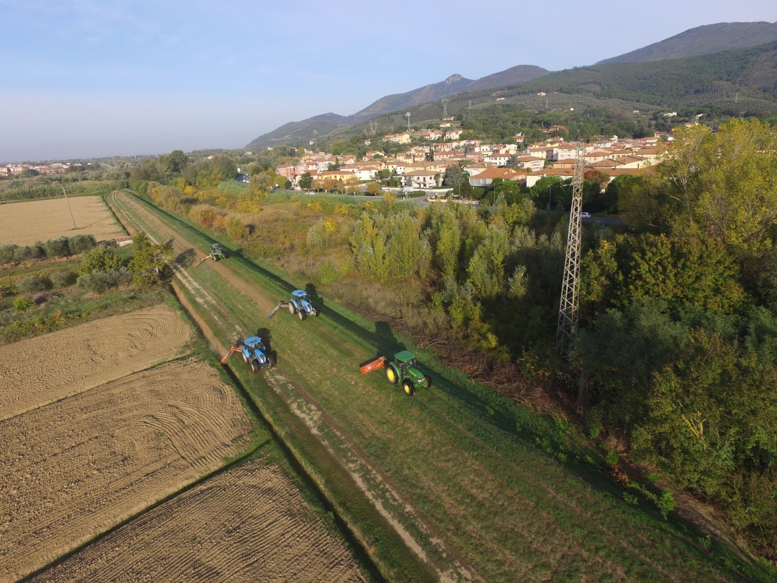 foto del volo Taglio Arno ovest dx II cat - ottobre 2019