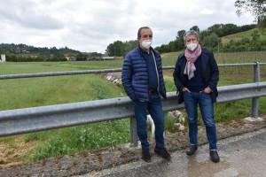 Ventavoli e Giglioli sul rio Ensi (o Enzi)
